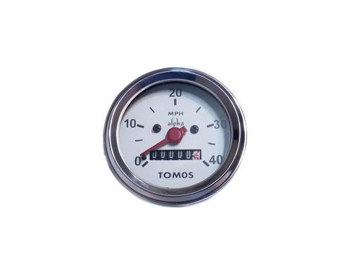 Tomos Original 40mph White Face Speedometer