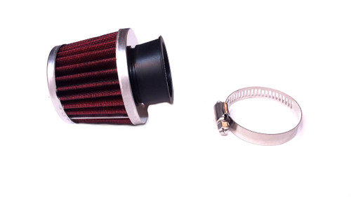 35mm Red Metal Mesh Air Filter, TOMOS A55 PHVA, PHBG