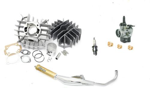 Tomos A55 70cc Airsal Speed Package w/ 17.5 Dellorto PHVA Carburetor Spark Plug Jets & Biturbo Exhaust