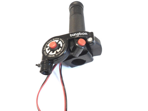 """Universal Moped Throttle Assembly with 2 buttons - 7/8"""""""