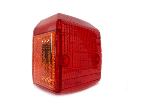 NOS CEV 210 Tail Light Lens for Puch / Tomos and more - Orange Sides
