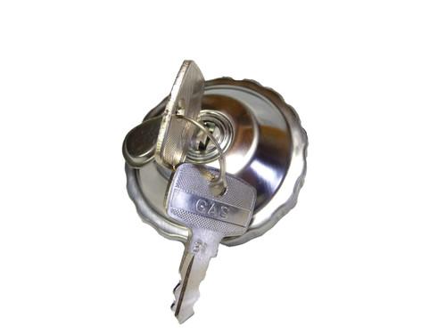 30mm Chrome Locking Gas Cap, For Step Thru Mopeds