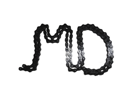 KMC Z410 1/8 Inch Bicycle Chain, 112 Links - Gloss Black