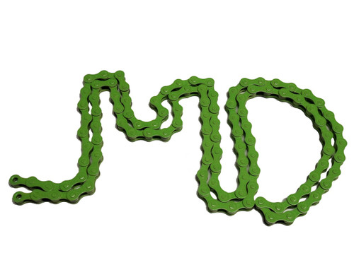 KMC Z410 1/8 Inch Bicycle Chain, 112 Links - Electric Green