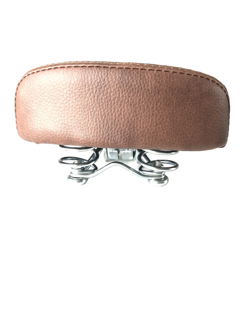 Studded Moped Springer Saddle Seat - Brown