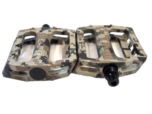 Demolition Trooper Plastic Moped Pedal Set, 9/16th - Green Digital Camo