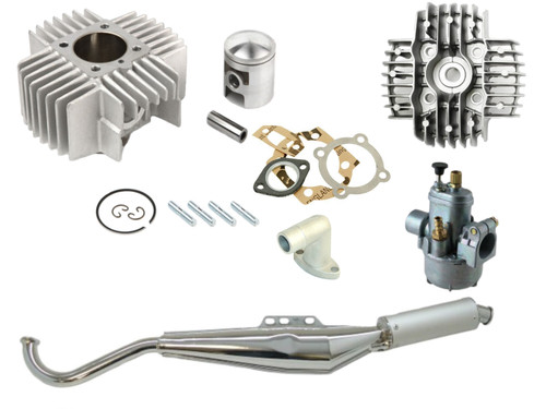 Puch Moped 70cc Cylinder Kit, Head, Intake, Carburetor & Exhaust Package
