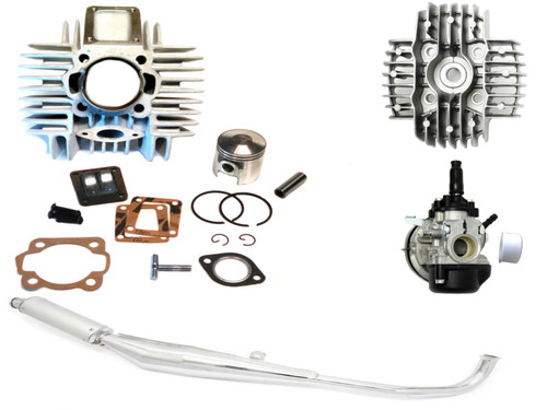 Tomos A35 Moped 70cc Reed Style Cylinder Kit, Head, Carburetor & Exhaust Package