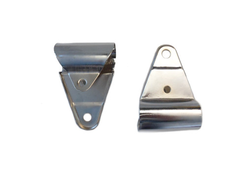 Chrome Universal Moped Headlight Bracket set -25mm