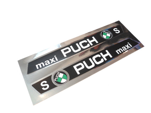 Puch Maxi S Moped Tank Decal Set - Chrome