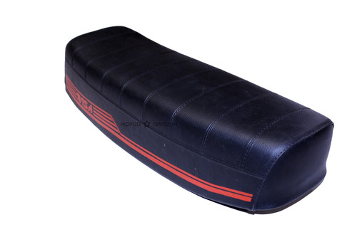 "Nisa Long ""Soft Line"" Seat - Black & Red"