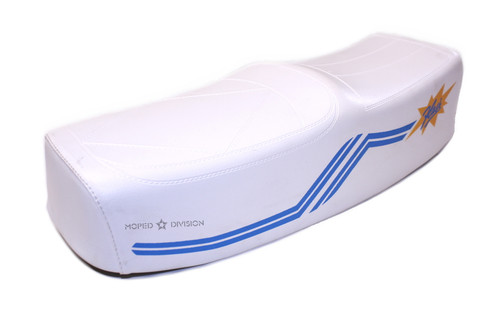 "Nisa ""Flash"" Long Seat - White & Blue"