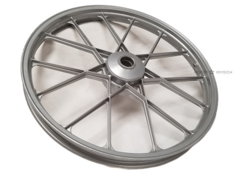 "NOS Puch 17"" Snowflake Mag Wheel, Front - Bare"