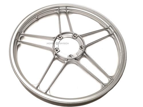 NOS Puch 5 star Mag Wheel, Bare - Gloss Grey