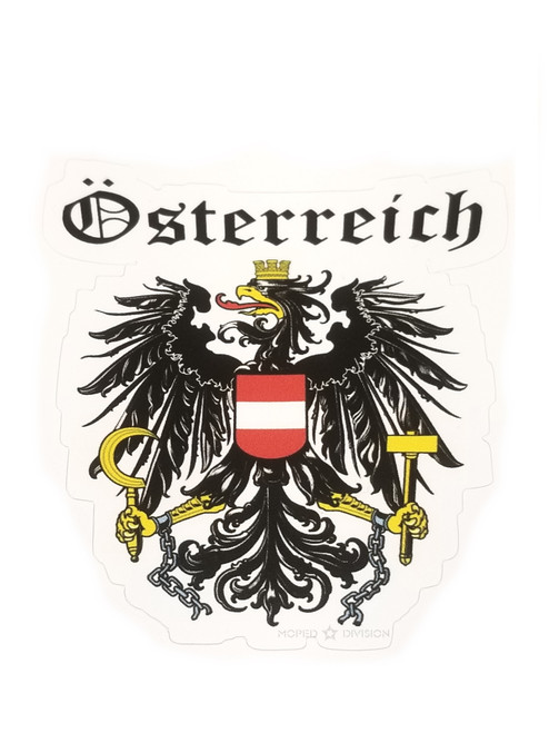 Puch Austria Coat of Arms Decal 80mm x 72mm - Each