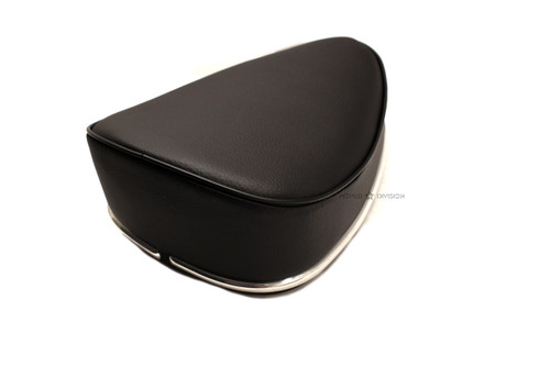 Moped Guitar Pick Single Seat, Black with Chrome Trim