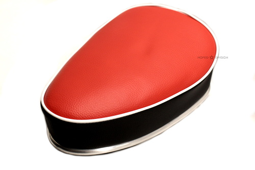 Moped Guitar Pick Single Seat, Red Top with Chrome Trim
