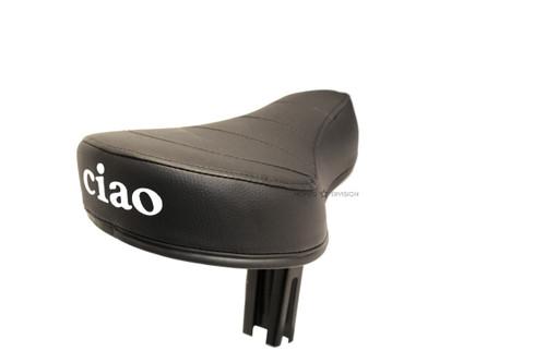 Vespa Piaggio Single Seat - Black with Ciao Logo