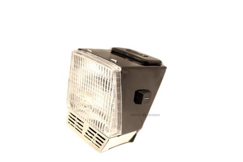 Motobecane Euro Rectangle Headlight, AV88 - Black