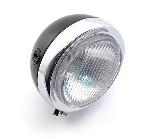 """5"""" Round Black and Chrome Headlight"""