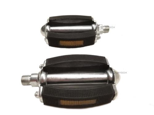 Classic Moped Pedal Set w/ Reflectors, 14mm - Motobecane Peugeot Solex