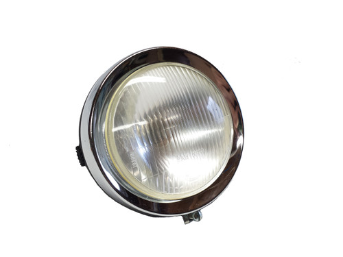"CEV 5"" Round Metal Moped Headlight  *Flat Black*"