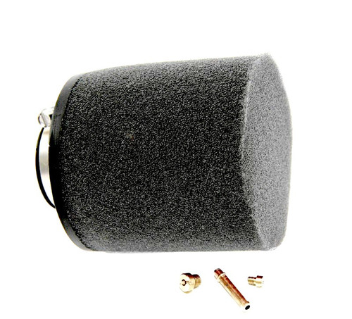 Tomos A55 Speed Upgrade Kit, High Flow Air Filter and Jets  *Black Filter*