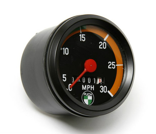Puch VDO Speedometer, Orange Bezel