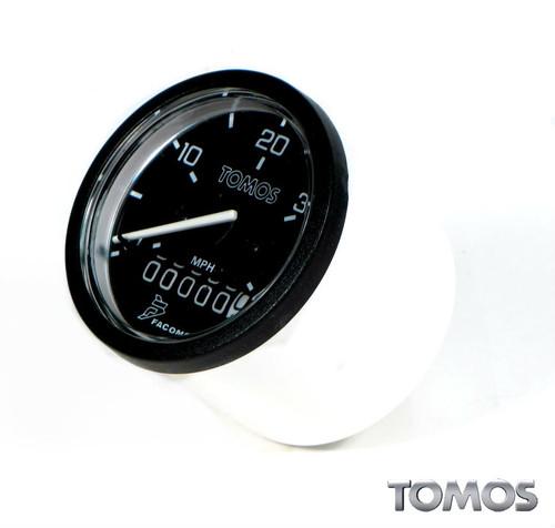 OEM Tomos A35 Speedometer, Black Face Pre 01/03 Models   227496