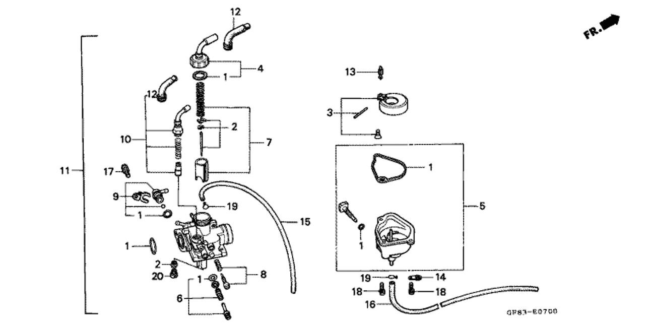 genuine honda qr50 1994 starter valve set part 10 16046gf8003genuine honda qr50 1994 starter valve set part 10 16046gf8003 (1047662)