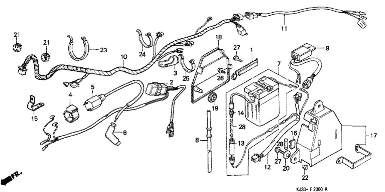 genuine honda tl125 1983 battery assembly (yuasa) part 7