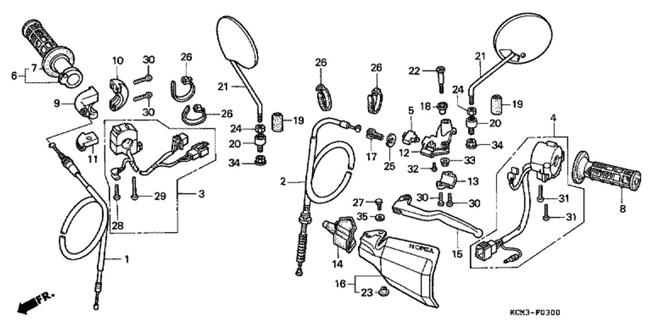 genuine honda xlr125r 1998 wire band part 26: 90650kw3000 (1523598)