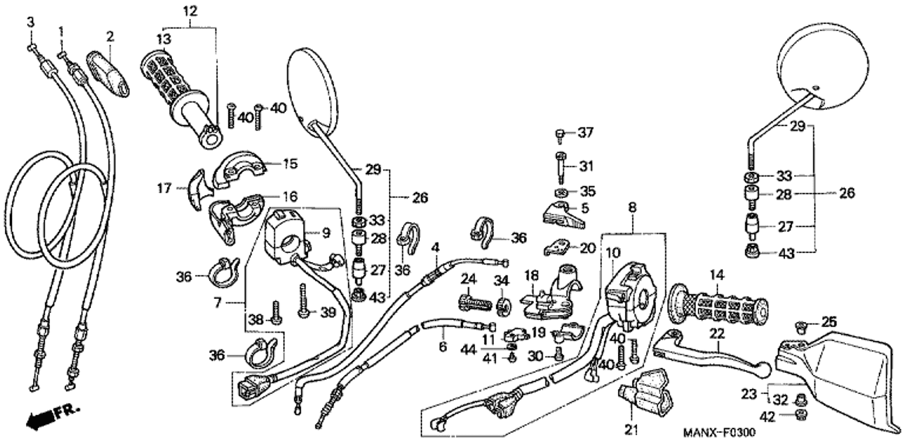 Genuine Honda Dominator 1999 Choke Cable Complete Part 4