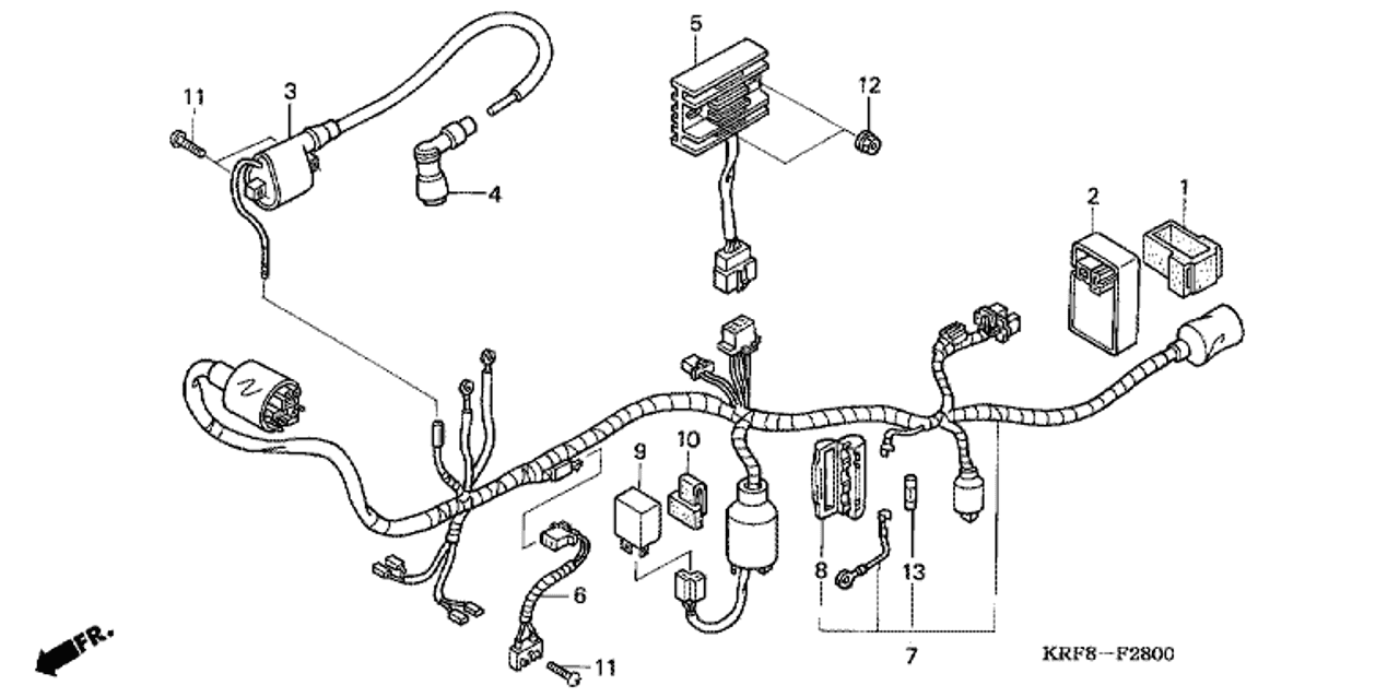 Genuine Honda Gl1253sh 2003 Regulator Rectifier Assembly Part 5 31600krft00 1625537: 2003 Honda Wiring Diagram At Hrqsolutions.co