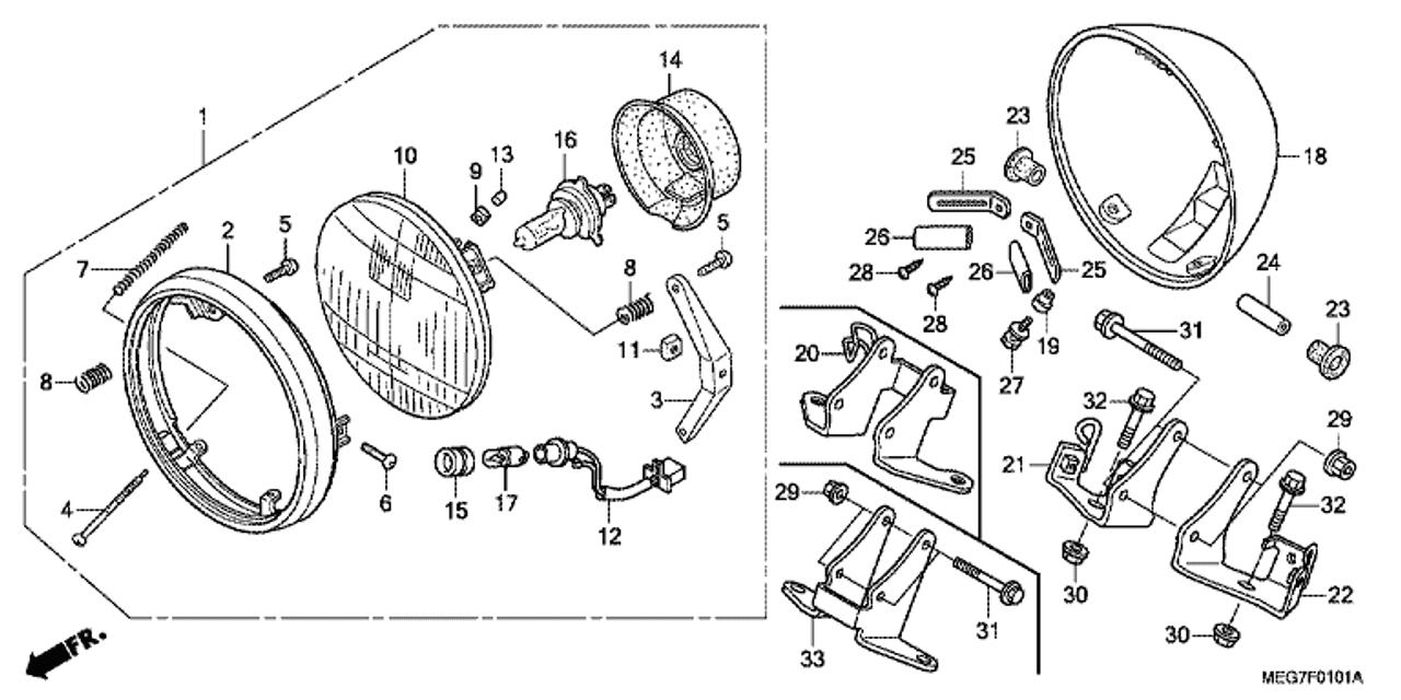 95 Honda Rebel 250 Engine Diagram