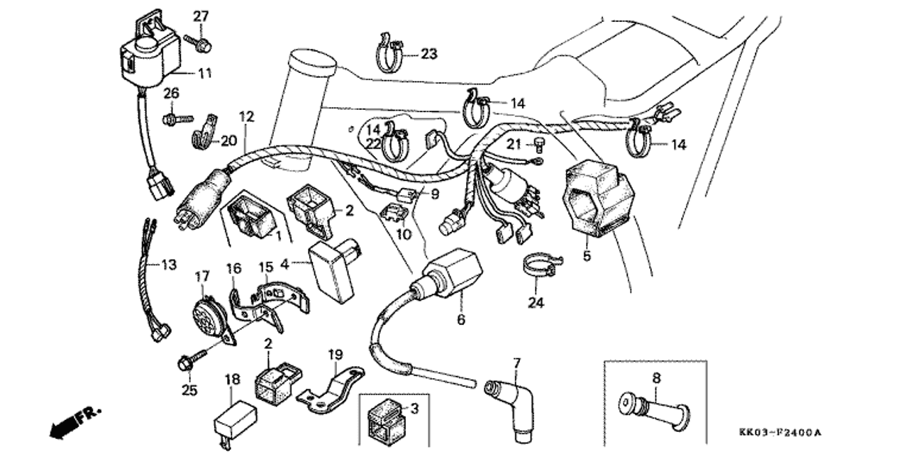 xr200 engine diagram system wiring diagram  1982 honda xr500r wiring schematic #13