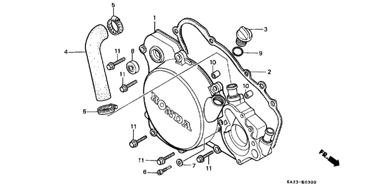 Sensational Diagram Of Honda Motorcycle Parts 1984 Cr125R A Alternator Diagram Wiring Digital Resources Counpmognl