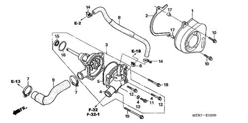 Genuine Honda Qr50 1997 Tube C9 Clip Part 26 9500250000 1037367