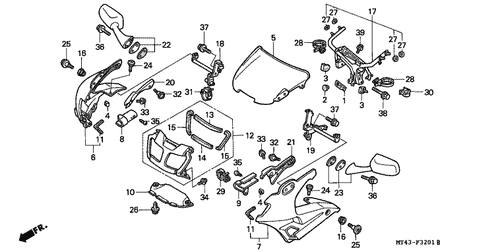 Genuine Honda VFR750F 1993 Fuel Manual Cock Assembly Part