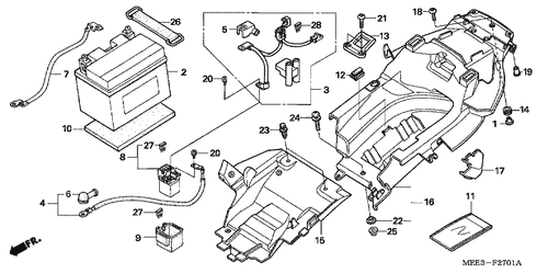 Genuine Honda Cbr600rr 2005 Battery Ytz10s Gs Yuasa Part 2 31500mcj642 926687
