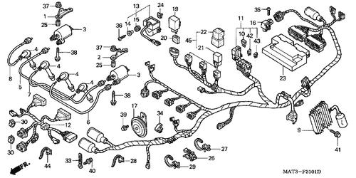 Genuine Honda Super Blackbird 2000 Wire Harness Part 11 ... on