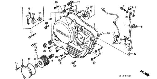 genuine honda xbr500 1987 pulse (toyo) generator assembly part 17:  30300mk4601 (1060471)