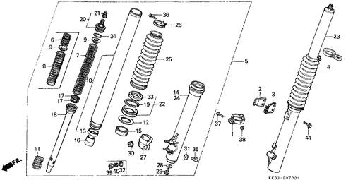 Genuine Honda Xr200r 1991 Right Bottom Case Complete Part 14