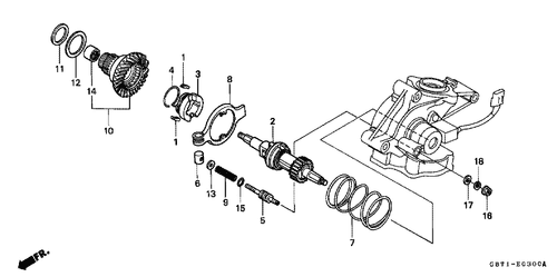 Pleasing Genuine Honda Qr50 1998 Single Seat Complete Part 1 77100Gf8690 Wiring Digital Resources Bocepslowmaporg