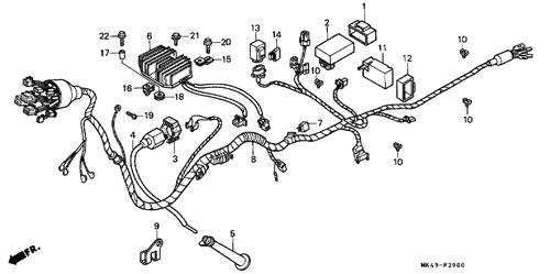 Genuine Honda XBR500 1988 C.D.I. Unit Part 2: 30410MK4601 (1393769 on
