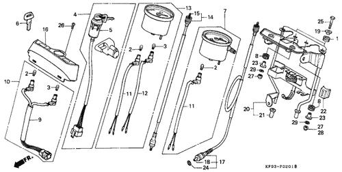 Genuine Honda XL185S 1989 Tachometer Assembly Part 13