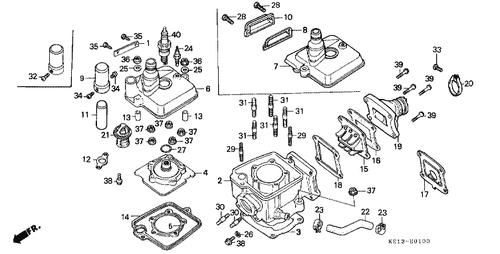 genuine honda mtx125r 1984 flange nut 8mm part 37: 9405008000 (1437258)