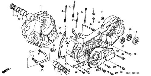 Genuine Honda Helix 1986 28X40x8 (Nok) Oil Seal Part 18 ... on