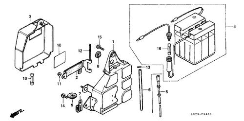 genuine honda xl125s 1982 wire harness clip part 7: 80102292670 (1528446)