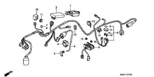 genuine honda xlr125r 1998 c d i  unit cushion part 1: 30401mn9000 (1497429)